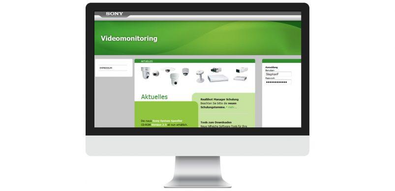 Sony Videomonitoring