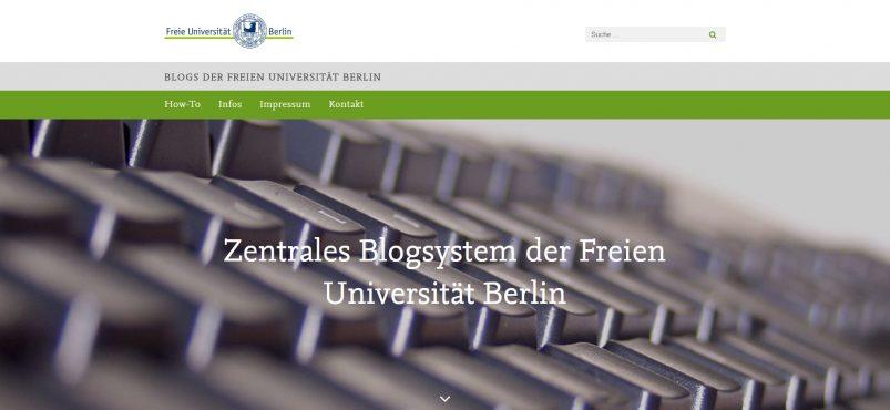 Freie Universität Berlin – Zentrales Blogsystem