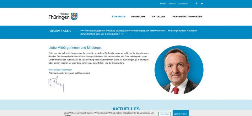 Freistaat Thüringen - Die Gebietsreform