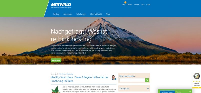 Mittwald Blog Hosting